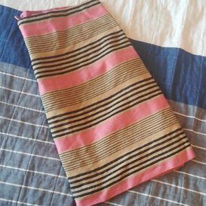 Like New Loft pink and tan skirt